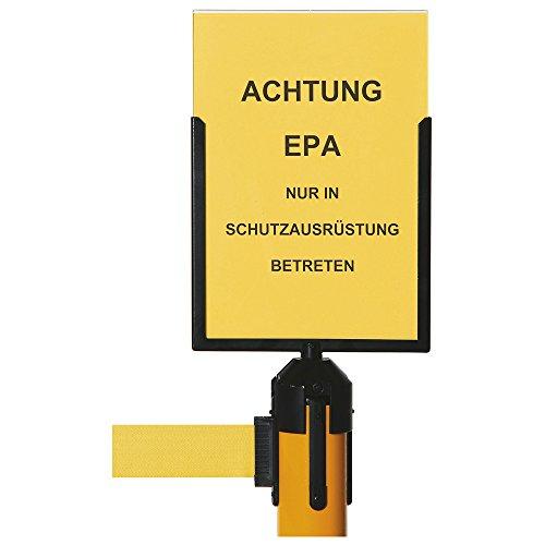 Warmbier Schildhalter DIN A4, für Gurtbandpfosten, ESD