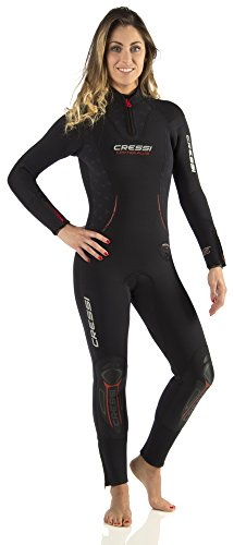 Cressi Damen Tauchanzüge Lontra Plus All-in-One Lady, Black, S-II-42/44