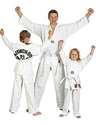 """'Traje de taekwondo """"To Start con impresión de espalda Ju-Sports, color blanco, color Weiß, tamaño 90"""