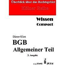 BGB Allgemeiner Teil - Wissen compact