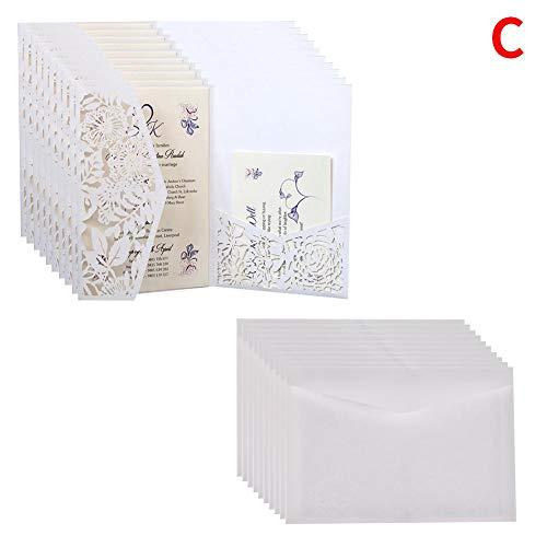 mysticall 10PCs europäischer Einladungs-Buchstabe, Hochzeits-Einladungs-Karten für Hochzeits-Brautparty-Verlobungs-Geburtstags-Staffelung Laden EIN