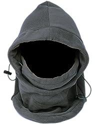OULII Termales al aire libre de invierno polar facial máscara sombrero cuello caliente para hombres de las mujeres (gris)