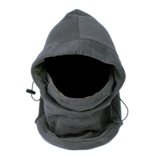 Outdoor-hals-wärmer (UEETEK Outdoor Winter Thermo Fleece Full Face Maske Mütze Hals wärmer (grau))