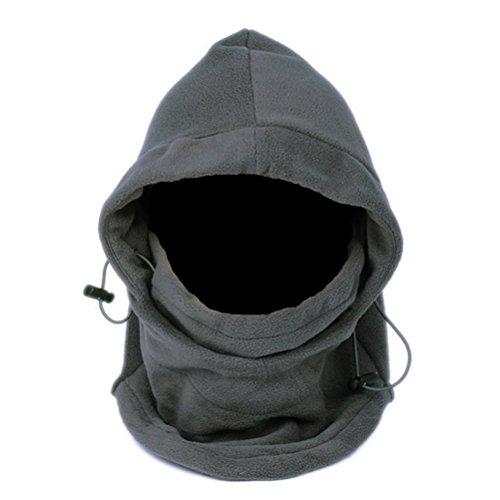 UEETEK Outdoor Winter Thermo Fleece Full Face Maske Mütze Hals wärmer (grau) (Fleece Mütze)