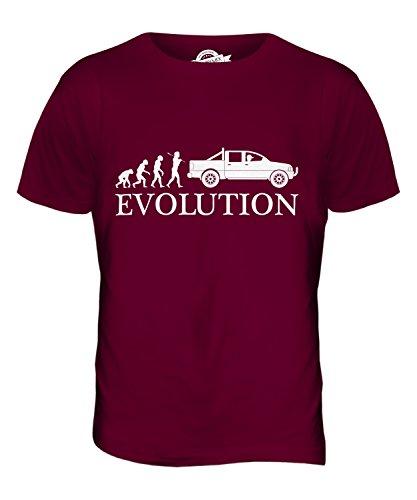 CandyMix Pick Up Evolution Des Menschen Herren T Shirt Burgunderrot