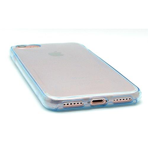 iProtect iPhone 7 e iPhone 8 Clear Crystal Soft Case custodia in TPU 0,3mm trasparente Softcase Azzurro Chiaro