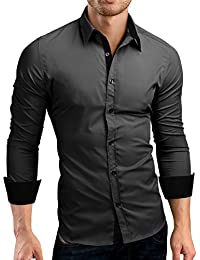 Grin&Bear coupe slim contraste chemise homme, SH510