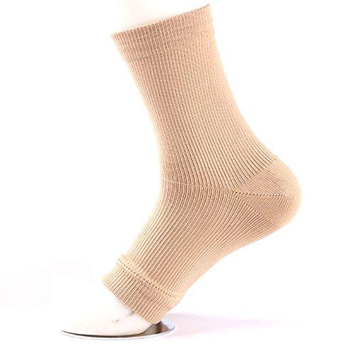 AGIA TEX Germany 2x Fersensporn-Bandage bei Fersenschmerzen & Fußschwellung | Kompressionssocken Sport mit offene Zehen für leichten Tragekomfort | Fuß-Bandage für mehr Stabilität beim Gehen 41-46