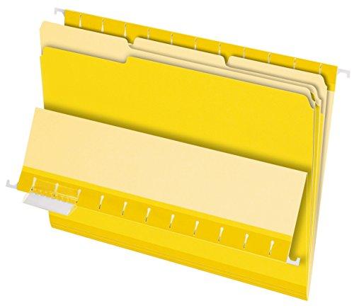 Pendaflex 421013Pendaflex Innenordner, 1/3 Zuschnitt, oberer Tab, Brief, 100/Karton Letter Size gelb (Pendaflex Brief)