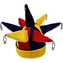 Multicolor divertido del payaso del bufón sombrero para Halloween Navidad partido del carnaval Complementos Disfraz