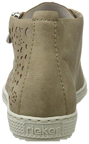 Rieker L9404, Sneakers Hautes Femme Beige (Beige/antique / 60)