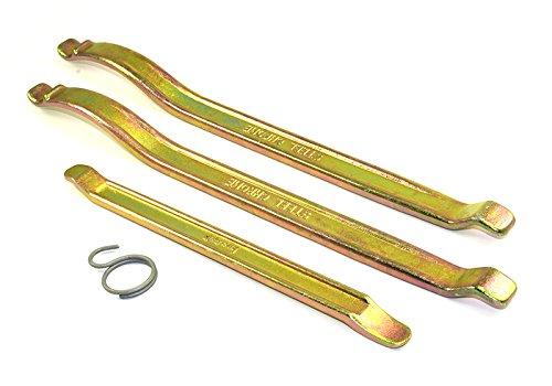 Buzzetti–Kit di leve professionali per smontare pneumatici 2x 350mm, 1x 240 mm.