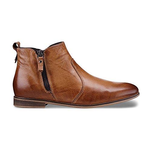 Cox Damen Damen Trend Bootie aus Leder, braune Stiefeletten mit Flexibler Laufsohle braun Glattleder 39