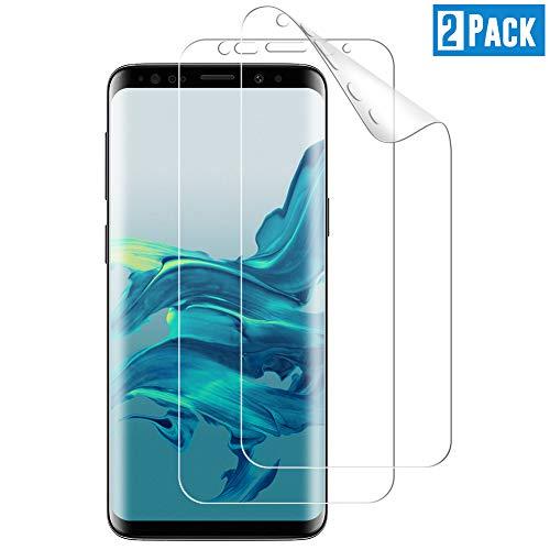 TOCYORIC Pellicola Protettiva per Samsung Galaxy S9 Plus, Galaxy S9 Plus [Installazione senz'acqua][Compatibile con la Custodia][Senza Bolle] HD Trasparente Morbido TPU Schermo Protettivo [2 Pezzi]