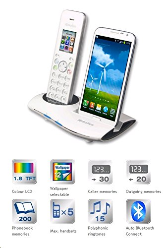 iCreation G-700 Cordless + Docking station Bluetooth 2.1 per Samsung Galaxy, colore: Bianco