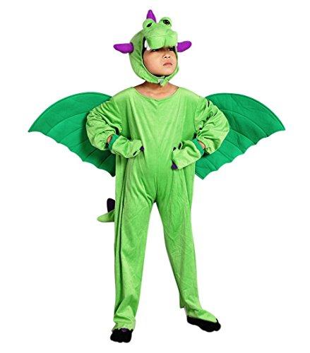 Sy20 Taglia 4-5A (104-110cm) Costume da Drago per bambini, indossabile comodamente sui vestiti normali