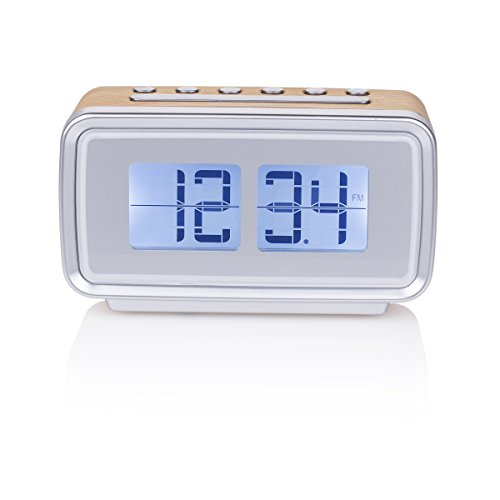 Smartwares CL-1474 - Reloj despertador, retro, radio FM, pantalla regulable