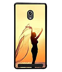 PrintVisa Designer Back Case Cover for Asus Zenfone 6 A600CG (Beach Dawn Freedom Beauty Girl Happy Beautiful Sunrise)