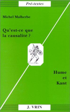 Qu'est-ce que la causalit ? Hume et Kant