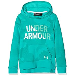 Under Armour Mädchen Rival Fleece Wordmark Hoodie Kapuzenpullover