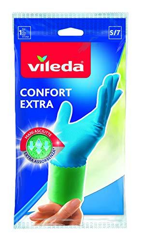 Vileda Comfort und Care Gummihandschuhe mit Kamille Lotion - 1 Paar