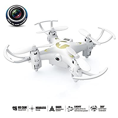 YMXLJJ Remote Control Drone And Camera With 0.3MP Camera Mini Quadcopter 2.4G 4CH 6-Axis Gyroscope Headless Mode, 360° Roll For Beginners (With 1G Memory Card)