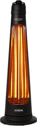 Silverline s-26153Dachrinnenheizung Terrasse Elektrische 900W IPX4schwarz (Elektrische Infrarot-heizung Terrasse)