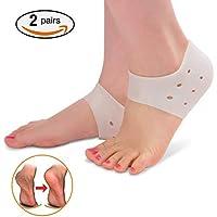 2 Paare Ferse Socken Gel Fersenschutz Silikon Heel Pads für Plantarfasziitis Crack Heels schmerzende Füße, Druck... preisvergleich bei billige-tabletten.eu