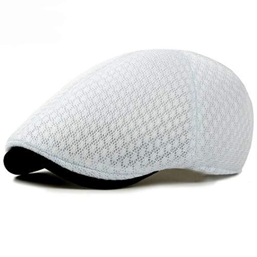 AROVON Hüte Korea Style Summer Sun Cap Plain Solide Ivy Cabbie Flache Kappen Atmungsaktives Mesh Männer Frauen Baskenmütze Kappen Era Mesh-hut