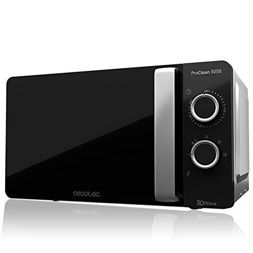 Cecotec ProClean 3050 - Microondas plateado, Revestimiento Ready2Clean, Tecnología 3DWave, 20 L,...