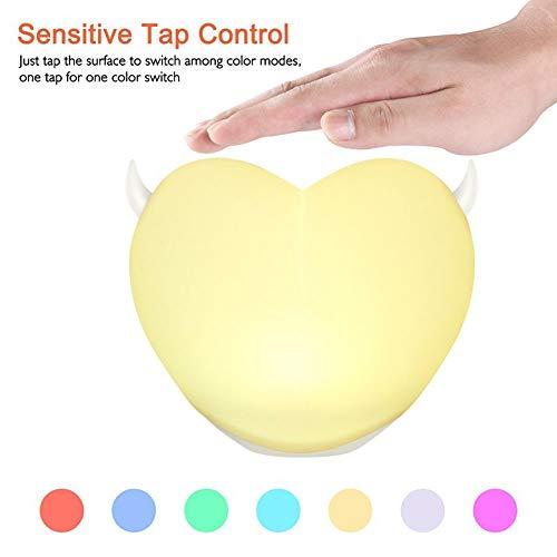 YJF Touch Control Nachtlicht LED Nachttischlampe Einstellbare Helligkeit USB Aufladen -
