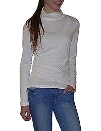 S&LU tolles leichtes Damen Rollkragen-Langarmshirt Größe 36-46 (S-XXXL/3XL)
