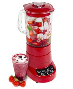 Andrew James Large Professional Premium Quality 1.8 Litre Glass Jug Blender With 5 Pre-set Programmed Speeds Including Ice Crushing Function
