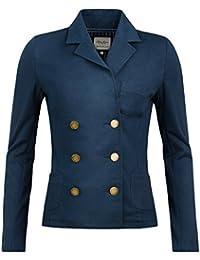 """'Pepe Jeans–Blazer/Chaqueta modelo """"BLAIRE en azul marino de color azul oscuro–entallado Blazer con solapa de cuello"""