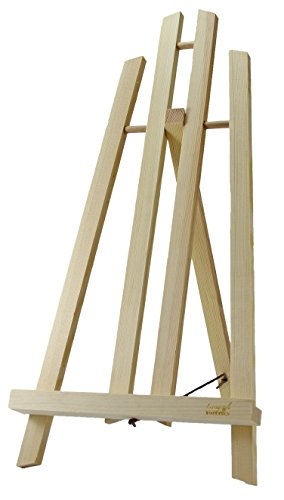 Tischstaffelei Holzstaffelei Staffelei aus Holz für Leinwand Fingerabdruckbaum