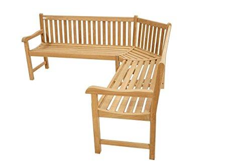 Premium banc de coin pour l'extérieur/200 x 200 cm/banc de jardin en bois de teck/Très Durable et robuste