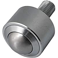 Ste of 10 Youliy 8mm Steel Conveyor Ball Sliver Transfer Bearing Unit Roller Wheels Small Flat Round Eye Conveying Ball