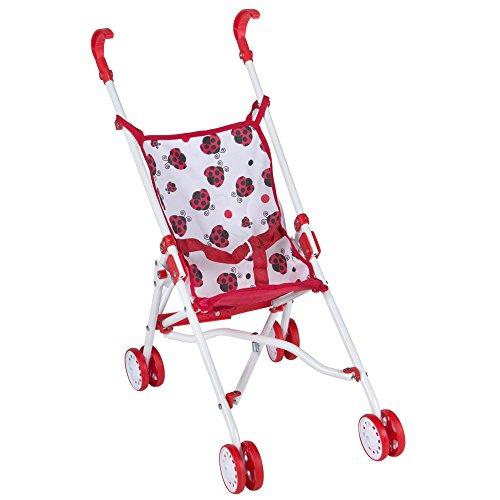 ColorBaby - Sillita de paseo con pliegue de paraguas, color rojo con mariquitas (43111)