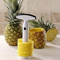 Jooks Edelstahl Ananasschneider Einfache Ananas Schäler Entkerner Schneider Zerteiler Corer Schneidmaschine Ausgezeichnete Qualität Gadget für die Küche