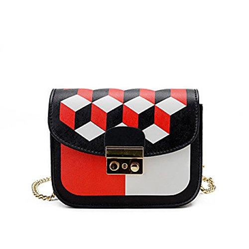 DFUCF Damen PU Büro Beruf Umhängetasche Kuriertasche Handtasche Umhängetasche Mode Lässig Robust Langlebig Klassisch Red