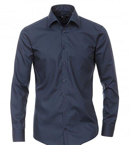 Venti - Slim Fit - Bügelfreies Herren Business Hemd mit Extra langem Arm (69cm) in verschiedenen Farben (001489) Blau (109)
