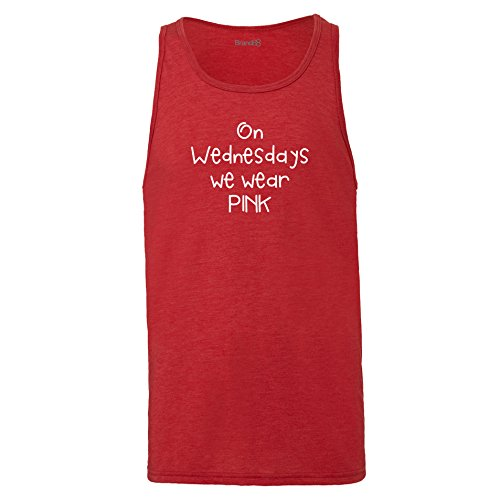 Brand88 - On Wednesdays We Wear Pink, Unisex Jersey Weste Rot Meliert