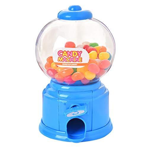 HSKB Candy Machine Dispenser Mini Gumball Süßigkeiten Spender Wendungen Süßigkeitenautomat Spender Wendungen Kaugummi Machine Coin Dispenser Automaten Vending Machine Candy Machine (Blau)