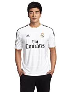 adidas Men's Real Madrid Home Jersey - White/Lead/Light Orange, X-Large