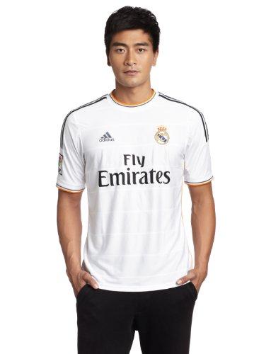 adidas, Maglietta Uomo Real Madrid Home Jersey, Bianco (White/lead/light Orange), XXL