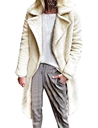 Kobay Womens Coats, Ladies' Warm Long Faux Fur Coat Jacket Parka Outerwear Women's Clothes Sale