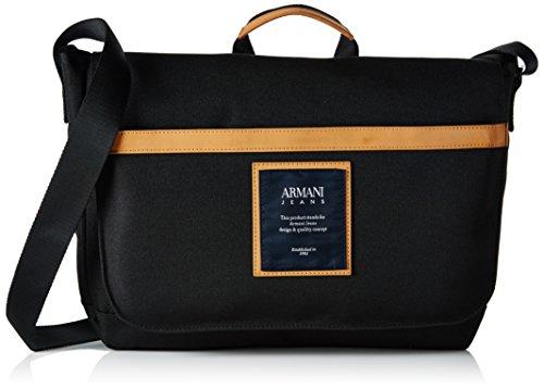 Armani Jeans Herren 9321217p914 Umhängetaschen, 9x27x36 cm Schwarz (NERO 00020)