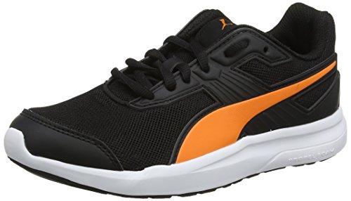 Puma Unisex-Kinder Escaper Mesh Jr Laufschuhe, Schwarz Vibrant Orange Black, 37 EU