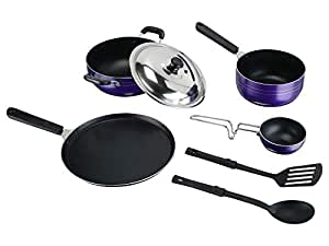 TOSAA Popular NONSTICK COOKWARE 7 PCS Gift Set Purple