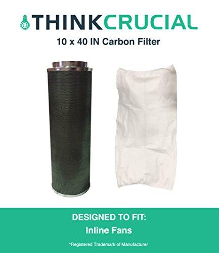 25,4x 101,6cm Carbon Inline Fan Filter & Geruch Kontrolle,, Teil # glfilt10l, die perfekt für Grow Zimmer, Zigarettenrauch, Foul, Geruch Emissionen, tierschuppen, Pflanze Emissionen, antiallergen Schadstoffe und mehr Luft-filter Allergen